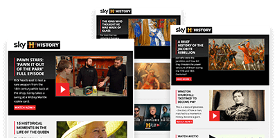 Get the latest updates from Sky HISTORY direct to your inbox